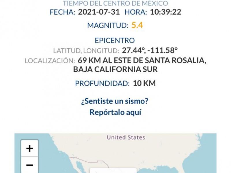 Tembló en Hermosillo y Guaymas este sábado
