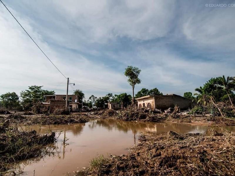 Temen en Los Sandovales nuevas inundaciones