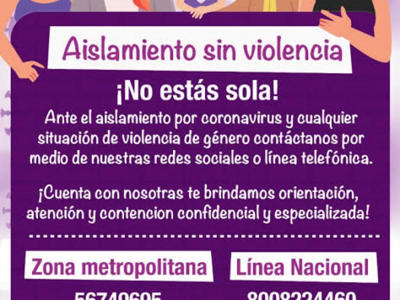Temen incremento de violencia familiar durante contingencia