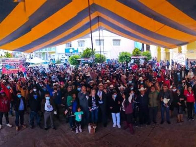 Temen pobladores de Coyomeapan represiones durante toma de protesta