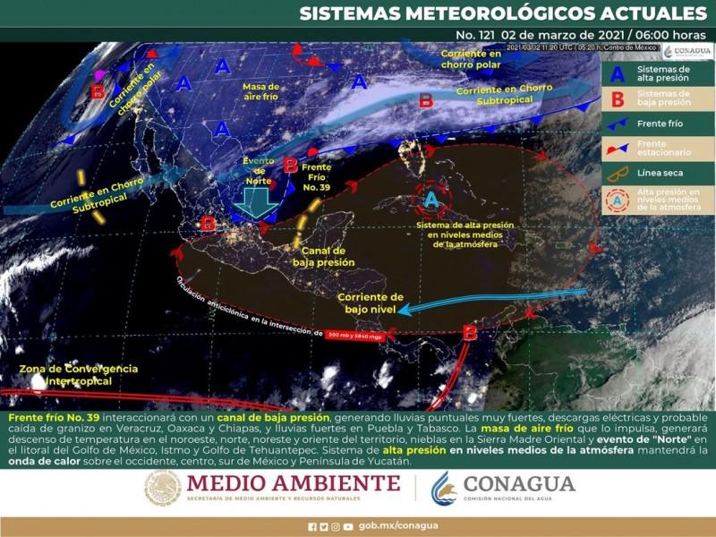 Temperaturas de 21 a 30 centígrados en región Guaymas-Empalme