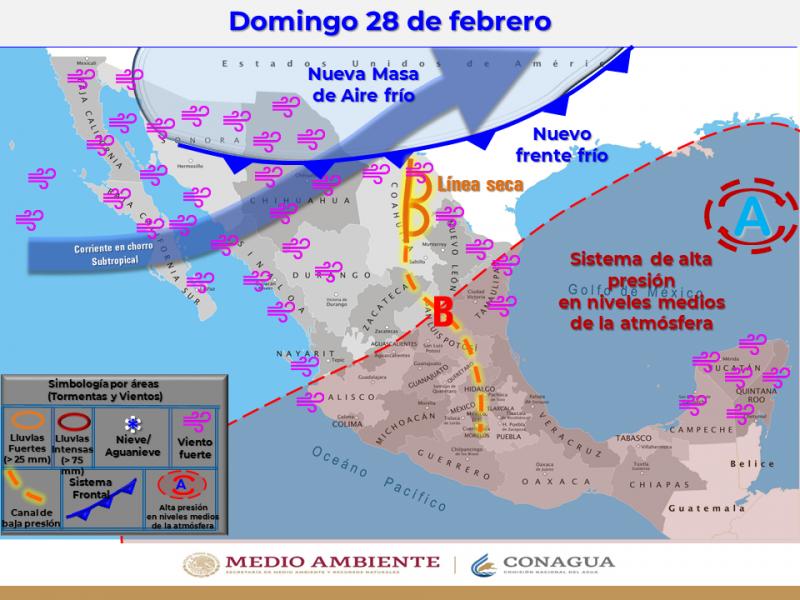 Temperaturas de cinco centígrados bajo cero en regiones de Sonora