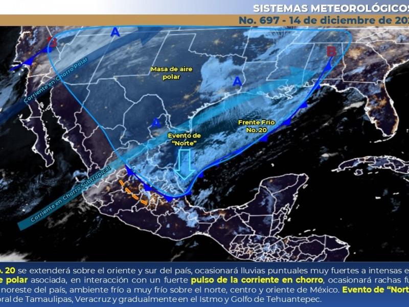 Temperaturas de cuatro centígrados bajo cero, sin lluvias en Sonora