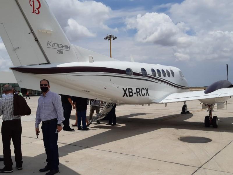 Tercer vuelo con yuduro de plata dejó lluvias en Sonora