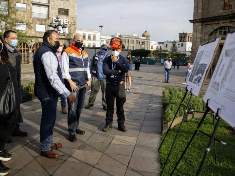 Terminan trabajos de renovación en Plaza de Armas