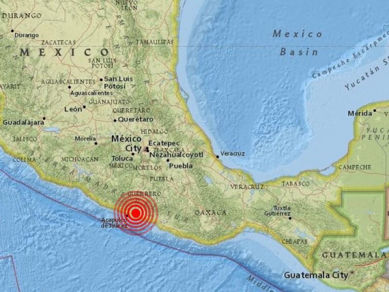 Tiembla en Guerrero; sin afectaciones ni víctimas