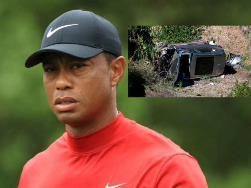 Tiger Woods fuera de peligro tras accidente de 17m
