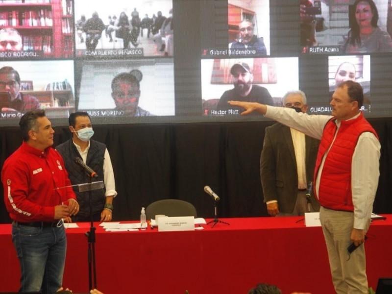 Rinde protesta Ernesto Gándara como candidato a la gubernatura