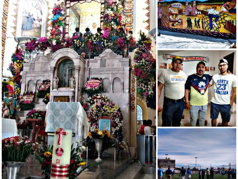 Tonatiquense regresan de Estados Unidos a fiesta de la Virgen