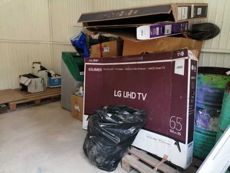 Toneladas de basura electrónica se acumulan en el estado