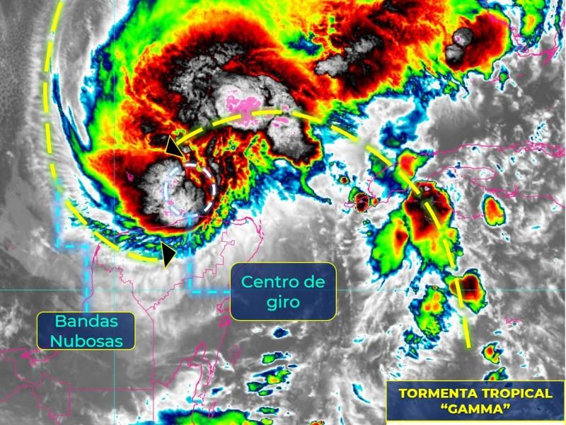 "Tormenta ""Gamma"" ocasiona lluvias torrenciales en Yucatán"