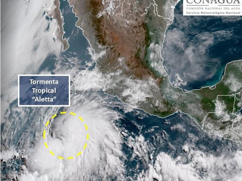 Tormenta tropical Aletta a 565 km de Manzanillo