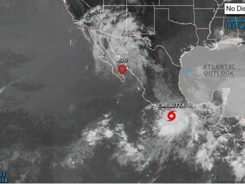 Tormenta tropical Carlotta continúa en costa de Guerrero