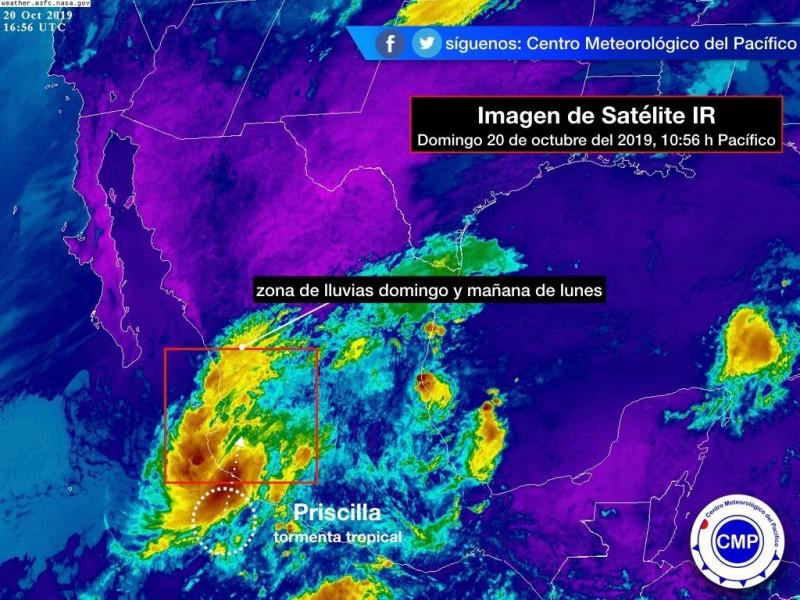 Tormenta tropical Priscilia pone en alerta a Nayarit