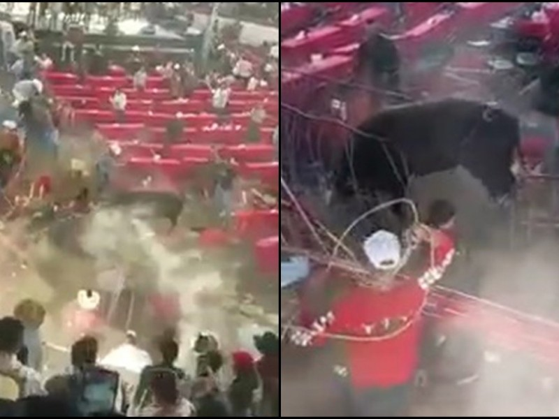 Video:Toro embiste a los asistentes de un jaripeo en Michoacán