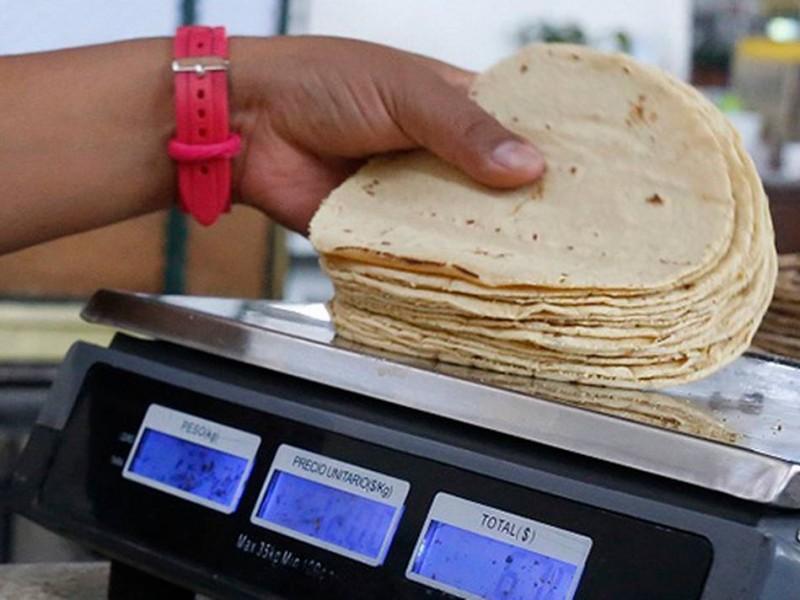 Tortilla no aumentará su precio a inicios de año