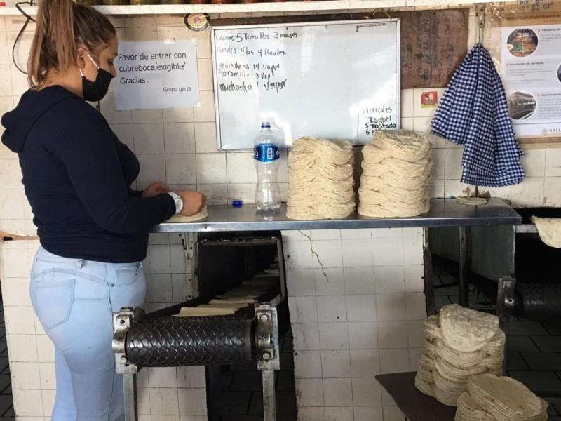 Tortilleros demandan subsidio al Gobierno Federal para evitar incrementos