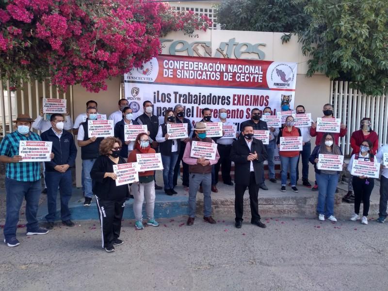 Trabajadores de Cecytes amenazan con paro de labores