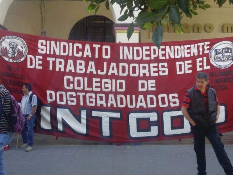 Trabajadores de Colegio de Postgraduados inician huelga