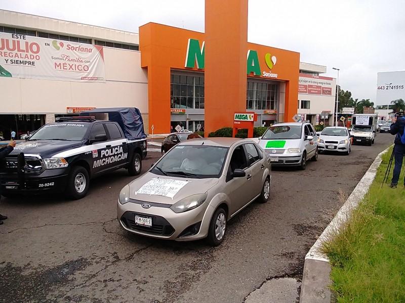 Trabajadores del espectáculo de nueva cuenta se manifiestan en Morelia