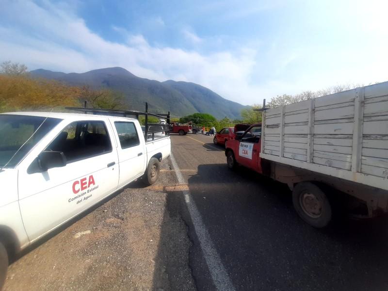 Trabajadores del SAP Juchitán bloquean carretera Panamericana tramo Tehuantepec-Jalapa
