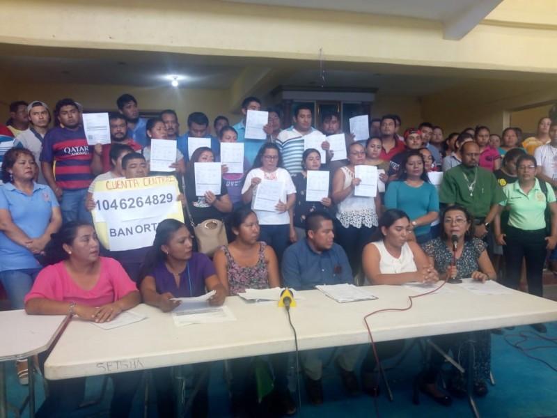 Trabajadores despedidos denuncian al Presidente de Salina Cruz