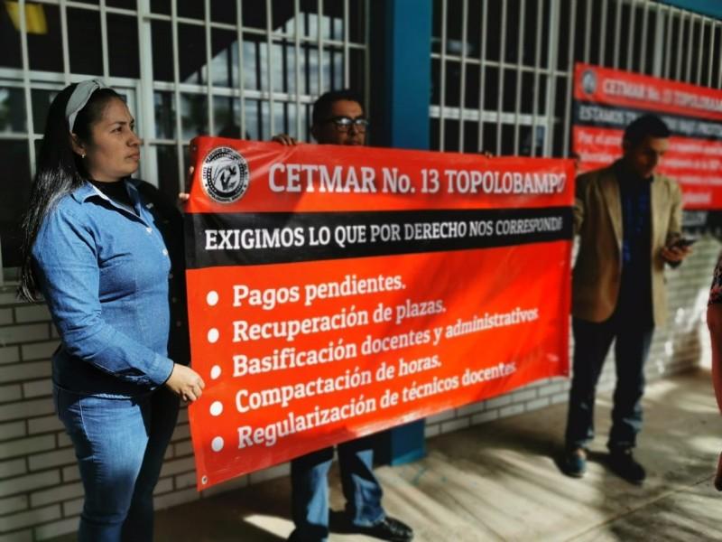 Trabajan bajo protesta en CETMAR No. 13 Topolobampo