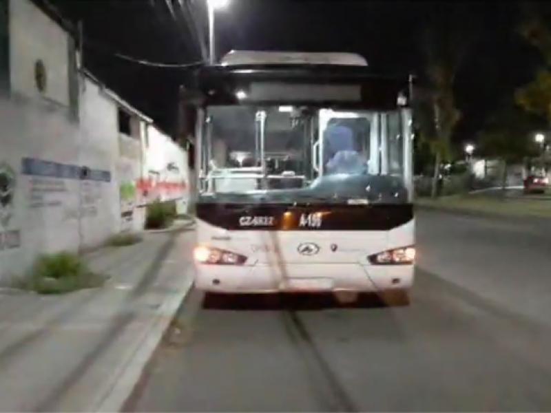 Trabajan policías para evitar robo en Transporte Público