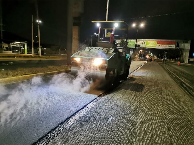 Trabajos de Rehabilitación sobre la avenida Paseo Constituyentes