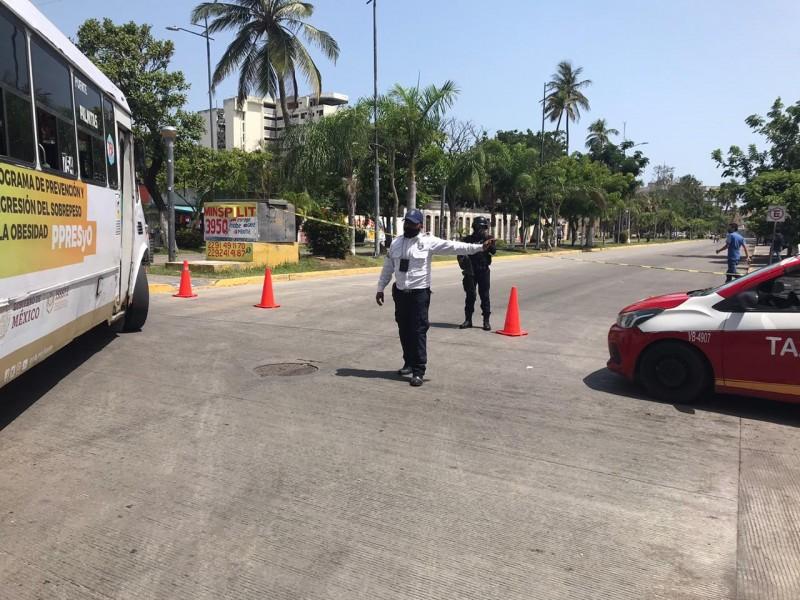 Tránsito municipal de Veracruz inició el cierre de calles