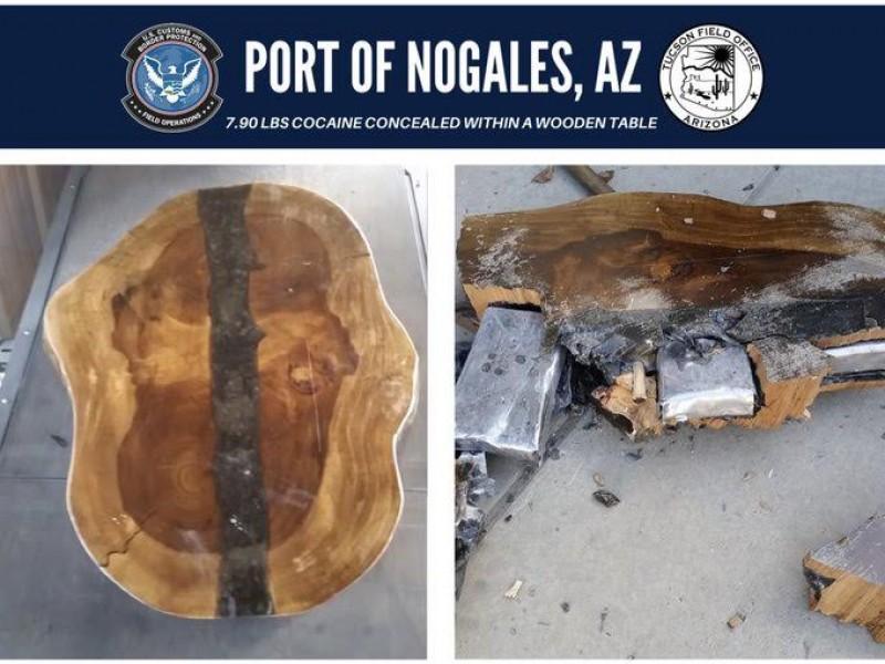 Transportaban droga en interior de mesa de madera
