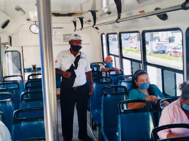 Transporte Público vigila ocupación en unidades