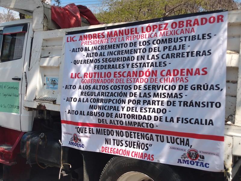 Transportistas demandan seguridad en carreteras