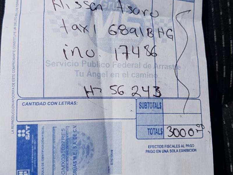 Transportistas denuncian tarifas excesivas de grúas