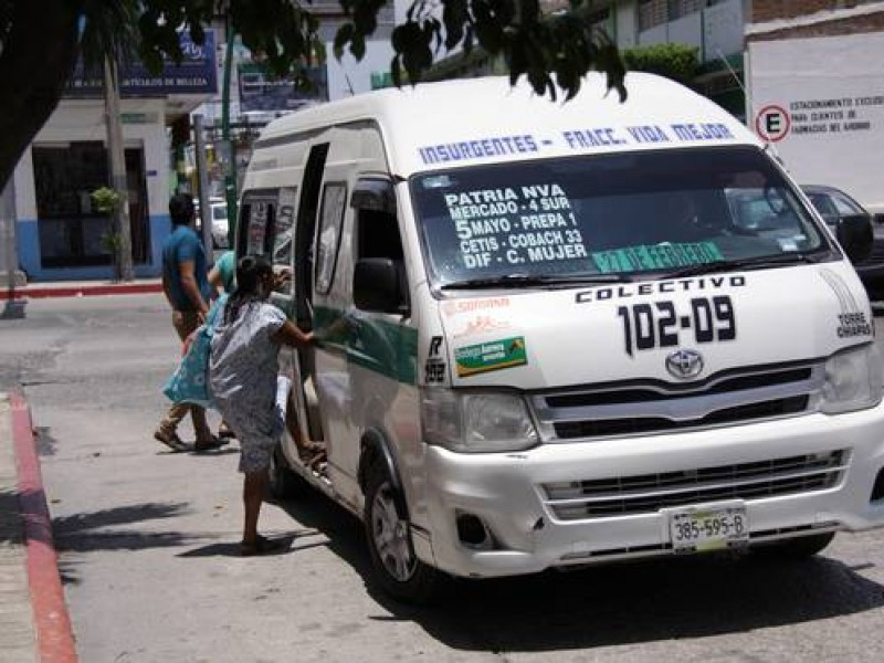 Transportistas en Chiapas piden ajuste al pasaje