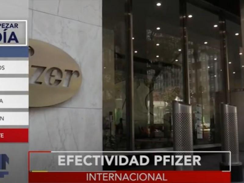 Tras 6 meses, vacuna Pfizer baja a 47% de efectividad