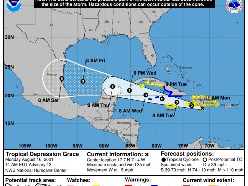 Tras devastador terremoto, ciclón tropical ''Grace'' se dirige a Haití