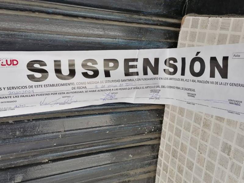 Tras verificaciones suspende Cofepris tres establecimientos