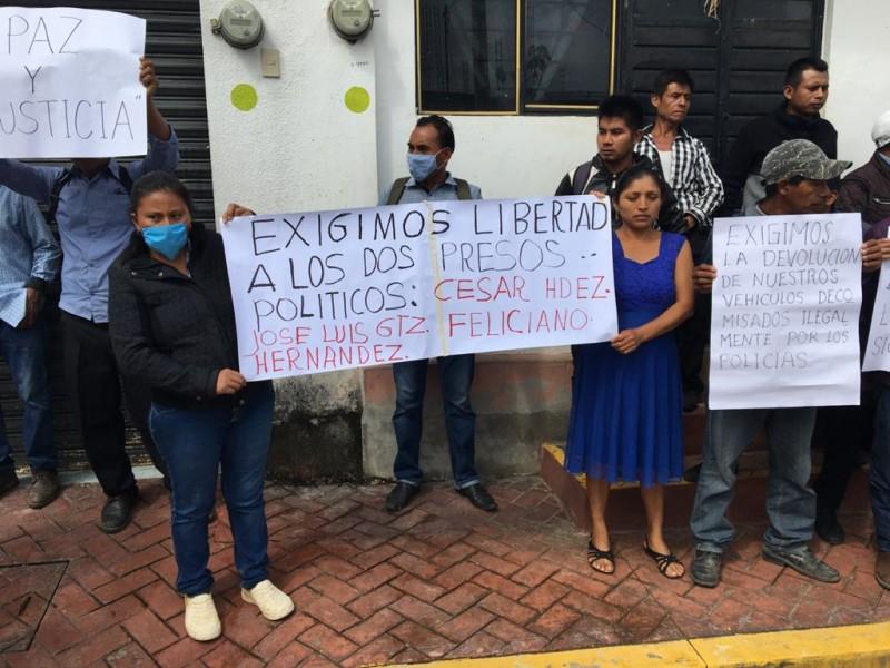Trasladan al Amate a detenidos en manifestación de Chilón