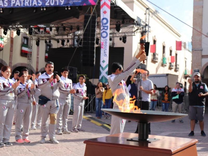 Traslado del fuego simbólico a Dolores Hidalgo, Guanajuato