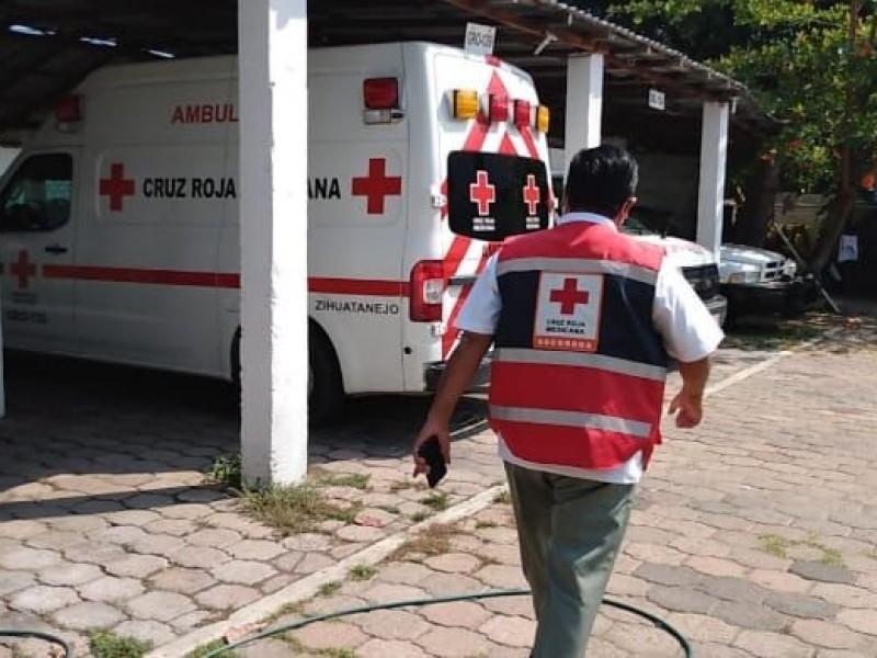 Traslados Covid-19 a más del 100% reporta Cruz Roja Zihuatanejo