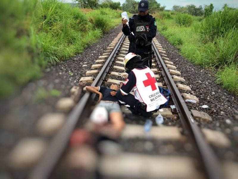 Tren cercena extremidades a migrantes en Cosoleacaque