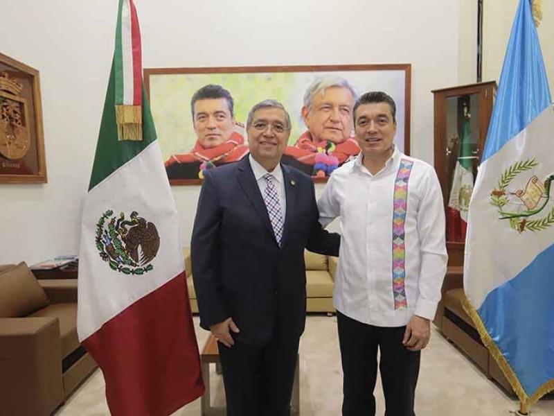 Tren Maya beneficiará acuerdos entre Chiapas y Guatemala
