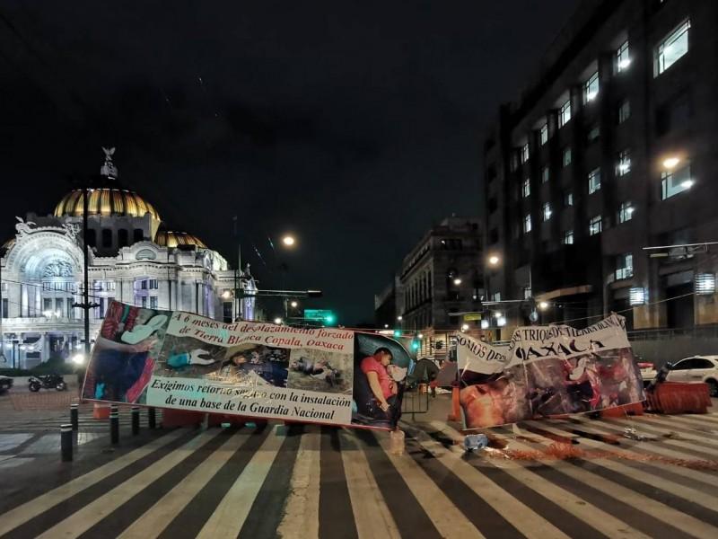Triquis desplazados de Oaxaca vuelven a bloquear vialidades de Cdmx