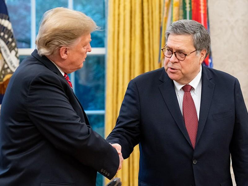 Trump anuncia la salida del gobierno del fiscal general Barr