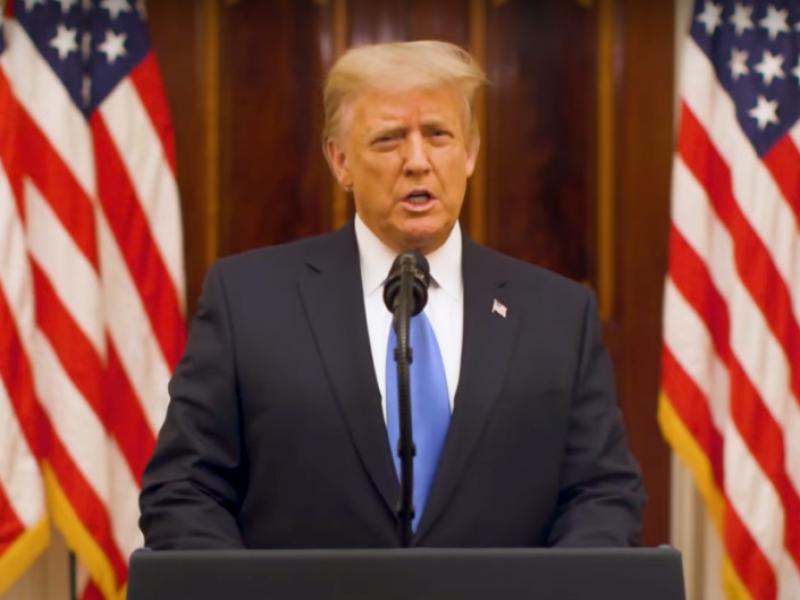 Trump da mensaje de despedida; desea suerte a administración Biden