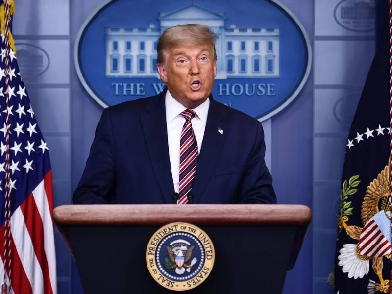 Trump reaparece para dar un discurso en Carolina del Norte