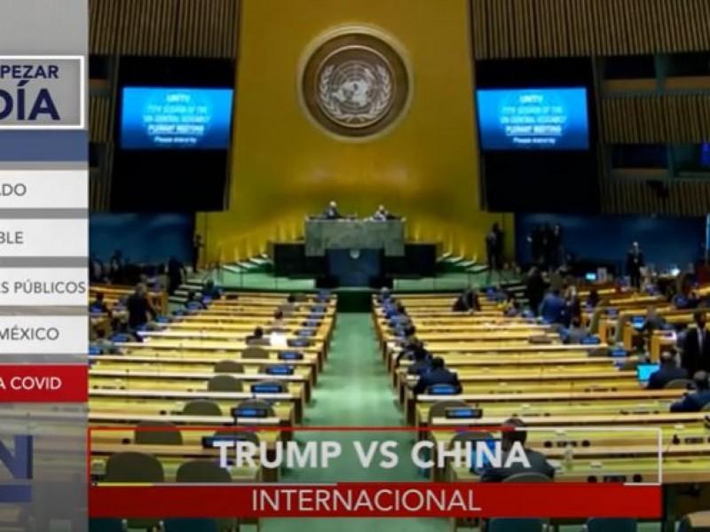 Trump se enfrenta a China en Asamblea de la ONU
