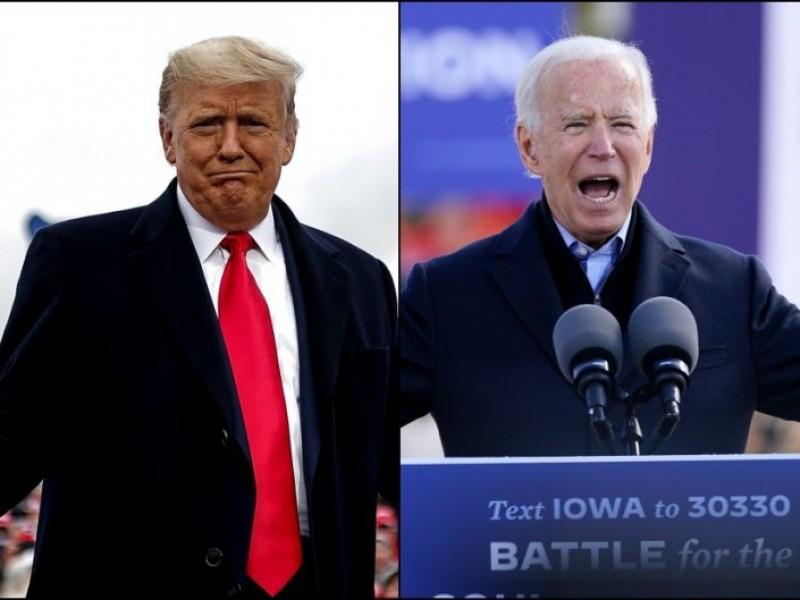 Trump y Biden cierran campaña a horas de las elecciones