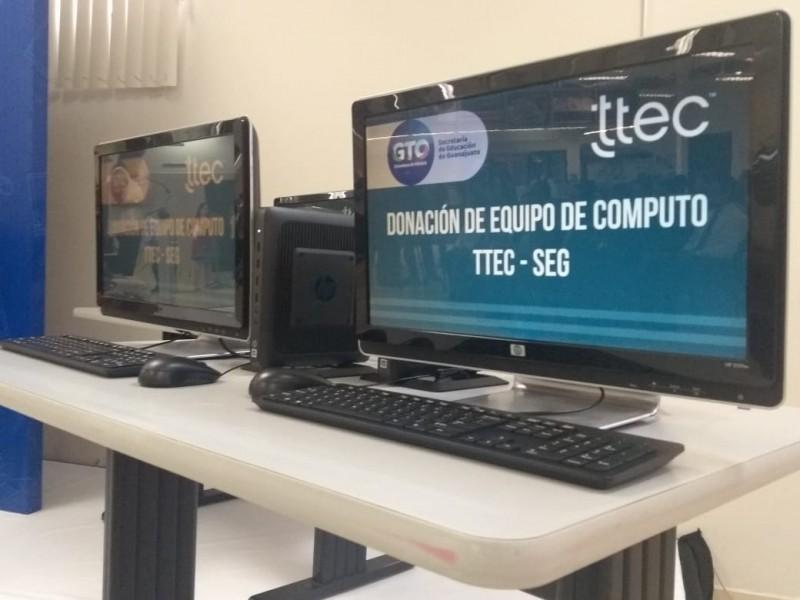 Ttec dona 500 equipos de cómputo a SEG